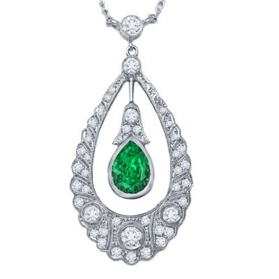 Diamond Tsavorite Pendant