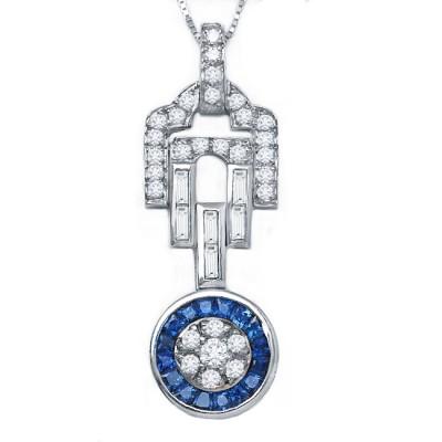 Diamond and Sapphire Pendant