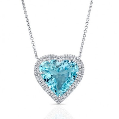 Marvel jewelry aquamarine heart pendant aloadofball Gallery