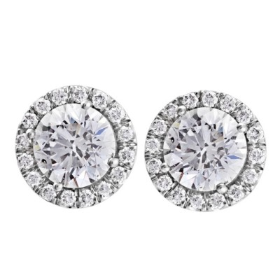 Platinum Diamond Stud Earrings