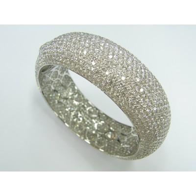 Wide micro pave diamond bracelet