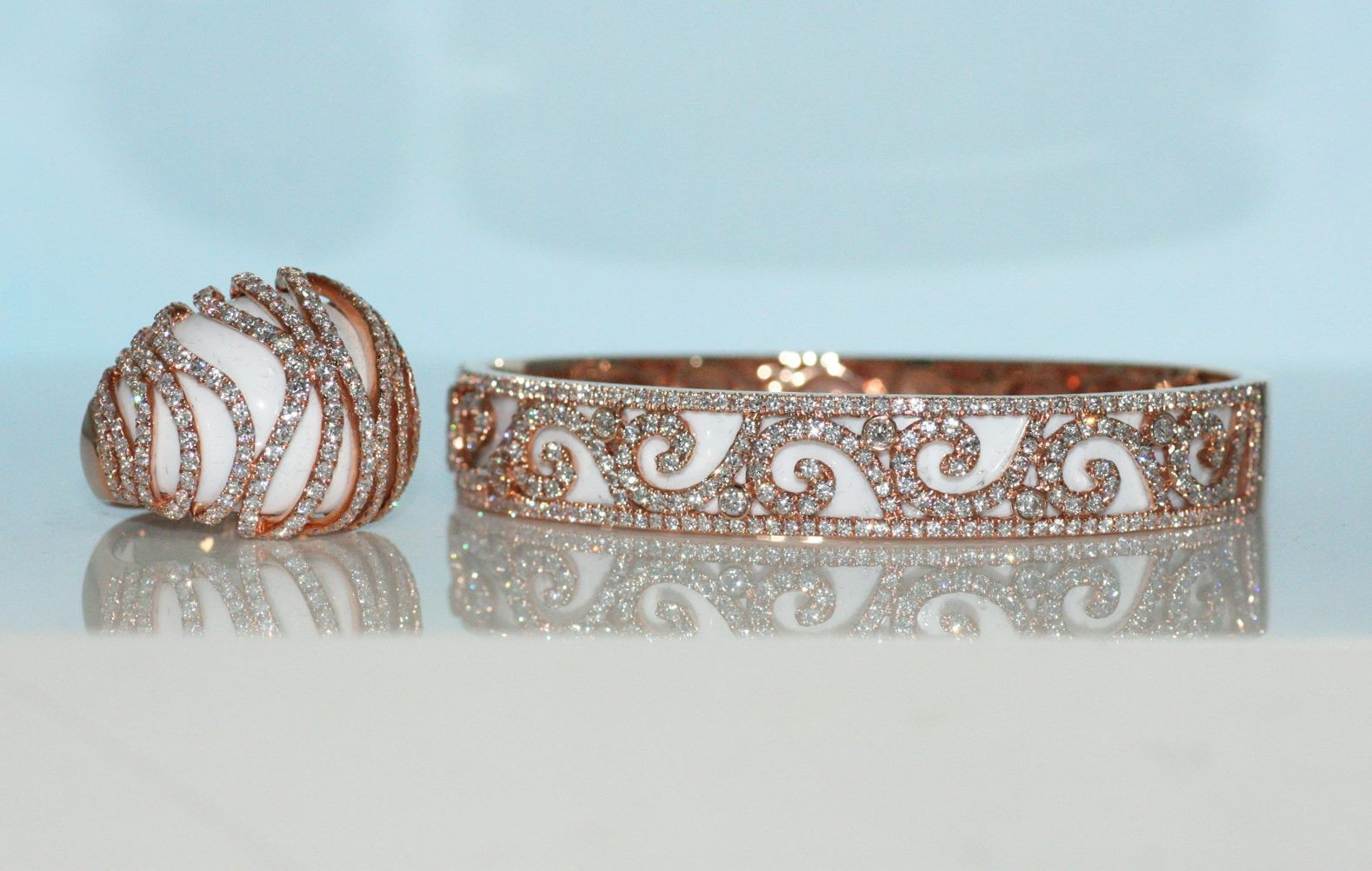 Matching ring and Bangle set