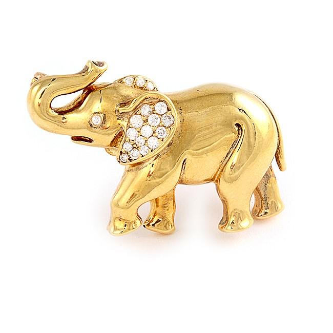 Good Luck Elephant Pin