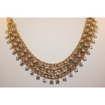 Hand made 18 karat diamond necklace.