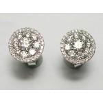 Diamond cluster  earrings.