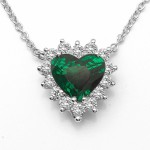 Tsavorite Heart Necklace