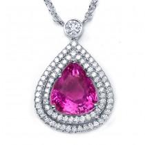 Diamond and Pink Sapphire