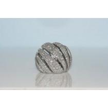 Dome diamond ring.