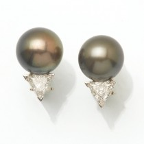Platinum South Sea Earrings