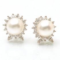 Platinum Pearl Earrings
