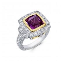 Platinum Diamond and Pink Sapphire