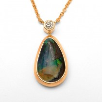 DIamond & Opal Necklace