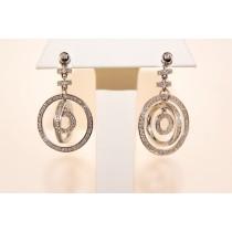 18K White Gold Diamond drop earring