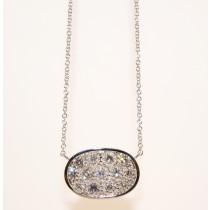 18K White Gold Diamond Necklace