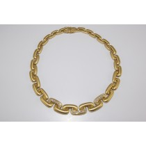 18 karat diamond link necklace.