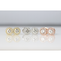 Halo Diamond Dainty Earrings.