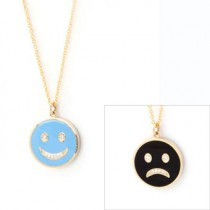 Happy Sad Colored Necklace