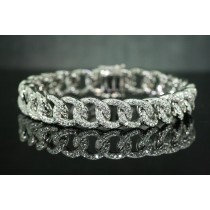 Diamond curb bracelet.