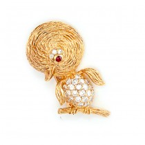 Yellow Gold Duck Pin