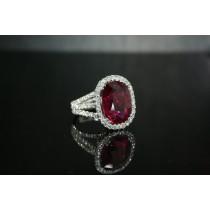 Rubellite ring