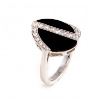 Black Onyx and Diamond Ring