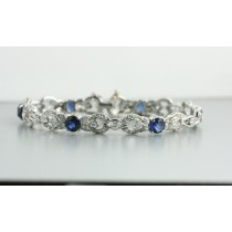 Antique Diamond and Sapphire Bracelet.