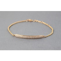 Diamond ID bracelet.