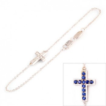 Double Cross Bracelet B16