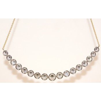 Hand made diamond necklace.