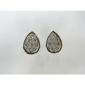 18 karat diamond earrings