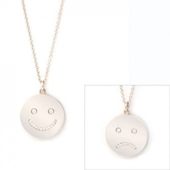 Happy Sad Face Necklace