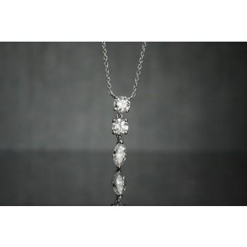 Hand made diamond platinum pendant.