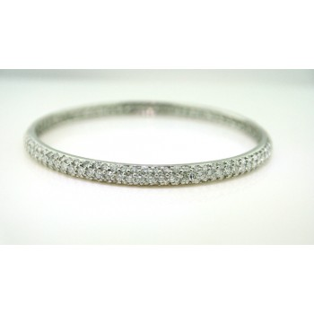 Platinum Diamond Bangle