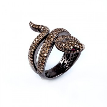 White Gold Snake Ring