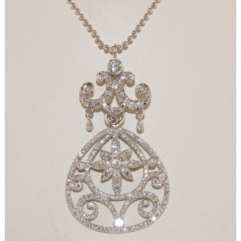 Platinum vintage pendant.